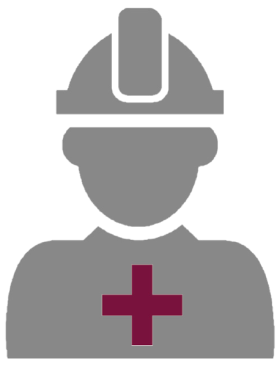 ANSS silhouette of operator with first aid cross on uniform