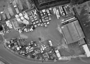 aerial view of waste management site for Augean North Sea Services