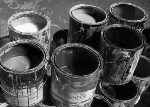 Old paint tins